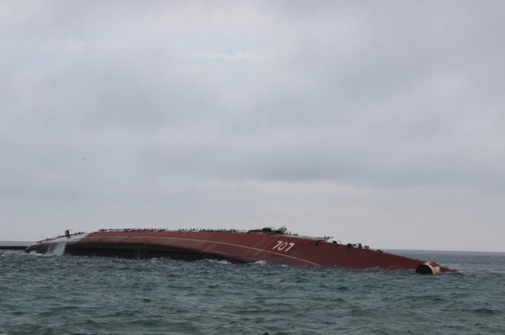 Затопленный корабль помешает украинскому флоту выйти в море, утверждают в Министерстве обороны Украины