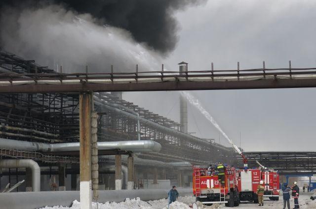 Возгорание на заводе СК началось в бытовом помещении.