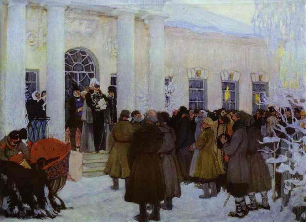 С 1907 года Борис Кустодиев стал членом Союза русских художников, а двумя годами позже по инициативе Репина был избран членом Академии художеств.
