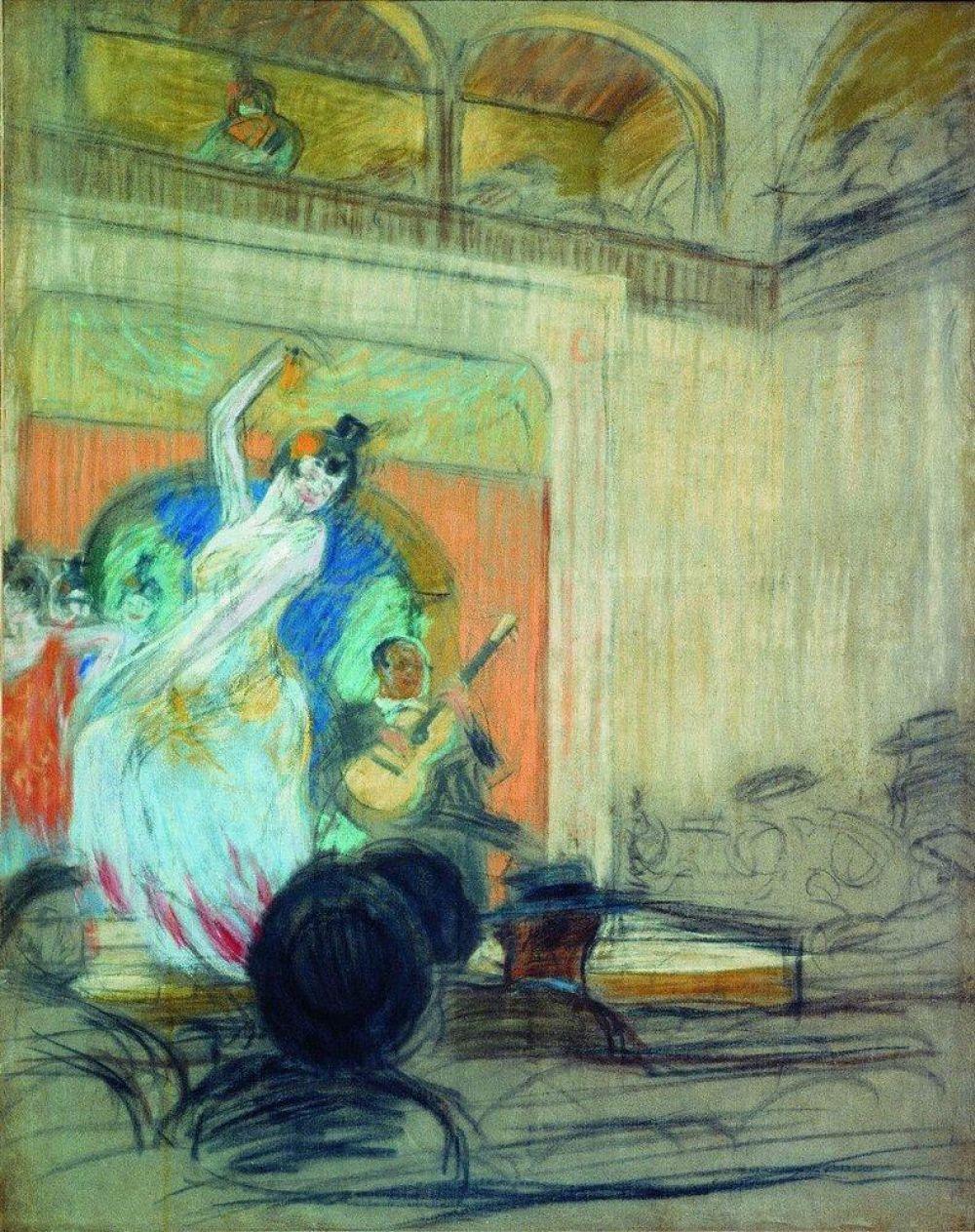 В 1903 году Кустодиев с золотой медалью заканчивает учебный курс и получает пенсионерскую поездку за границу. Благодаря этому он побывал в Германии, Италии и Испании, где увлёкся живописью старых мастеров и задержался для учёбы на полгода.