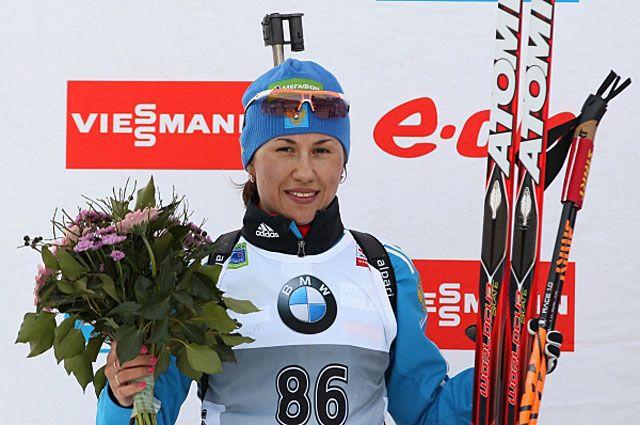 Дарья Виролайнен завоевала серебро этапа Кубка мира в Поклюке. 2014 год.