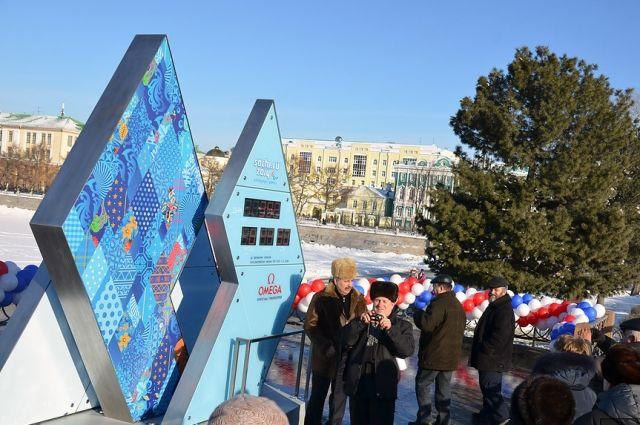 На Плотинке в Екатеринбурге остановят Олимпийские часы