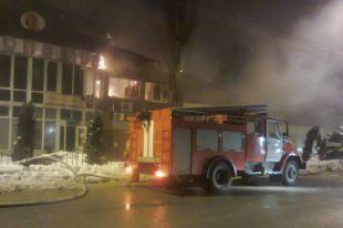...Дома архитекторов в Киеве Возгорание могло произойти в результате использования пиротехнических средств...