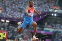 Люкман Адамс в финальных соревнованиях по лёгкой атлетике на ХХХ Олимпийских играх в Лондоне. 2012 год.