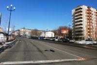 Одна из трасс в спальном районе Хабаровска