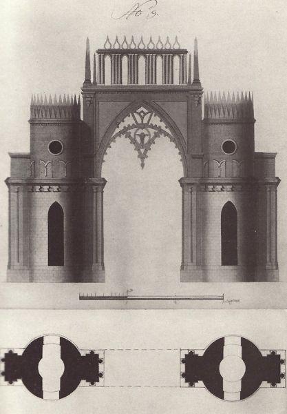 По задумке Баженова, в парке также должны были быть возведены Фигурные ворота.