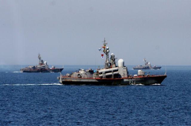 Военные корабли ТОФ в Японском море