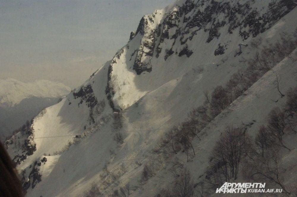 Не все горные склоны Красной Поляны доступны для катания.