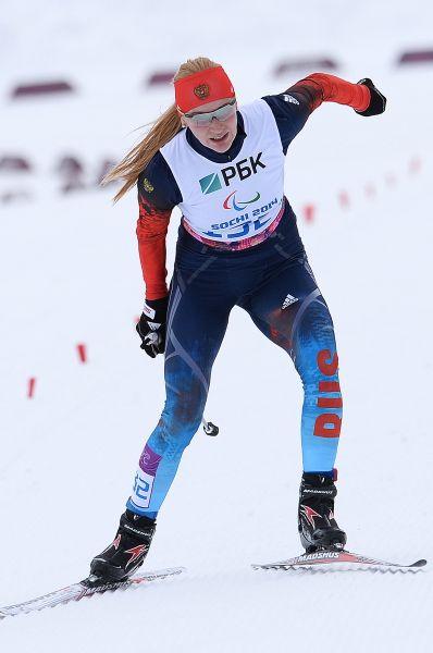 Алена Кауфман (на фото) и Наталья Братюк завоевали серебряную и бронзовую награды в биатлонной гонке на 12,5 км в категории «стоя».