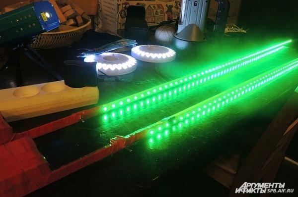 Во фризлайте можно экспериментировать с разными осветительными приборами.