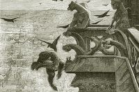Иллюстрация Люка-Оливье Мерсона к роману «Собор Парижской Богоматери». Работа не позднее 1920 года.