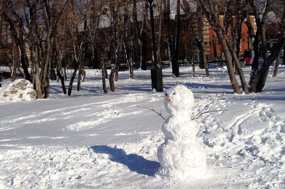Теплый снежный день в Иркутске стал днем рождения для сотен снеговиков.