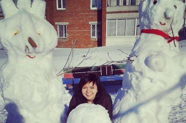 Количество выпавшего снега позволило ставить просто гигантские фигуры.