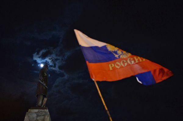 На концерте представители властей Крыма заявили о переходе на рубль с 1 апреля.
