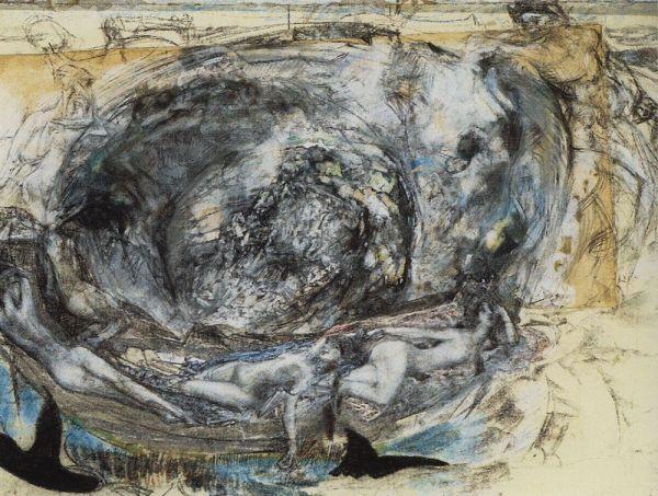 В 1905 году болезнь Врубеля обострилась, однако ему было присвоено звание академика. В конце февраля 1906 года художник полностью потерял зрение и его перевели в Санкт-Петербург.