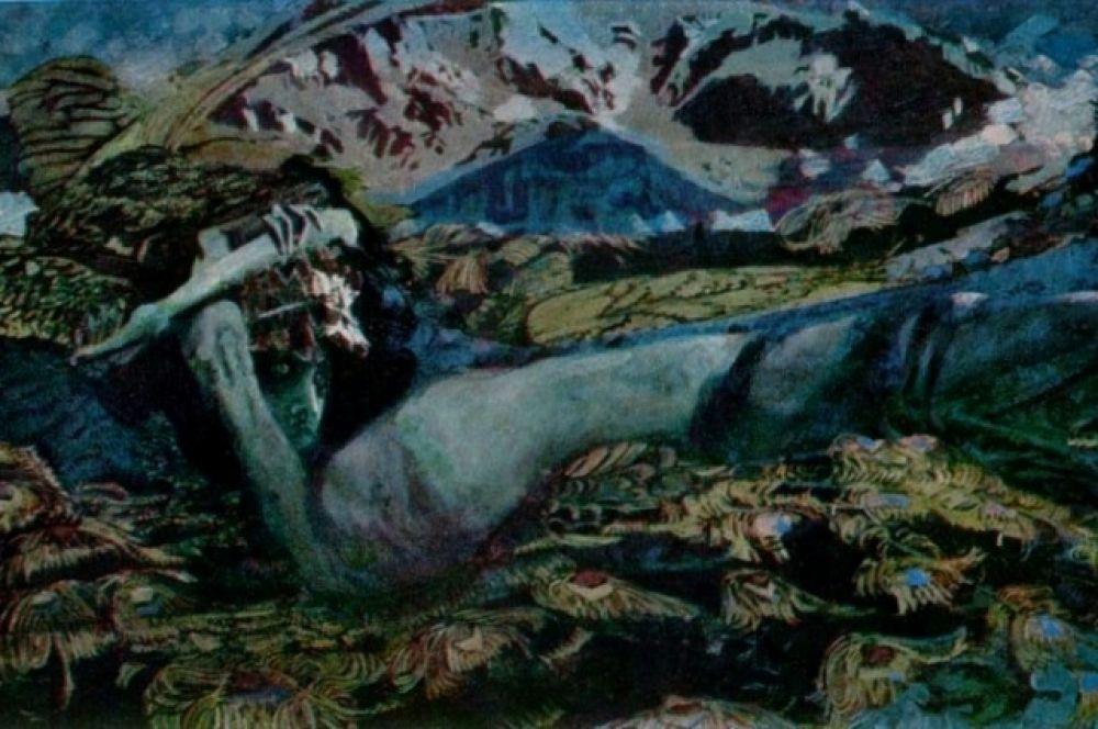 В 1902 года у Врубеля появились первые признаки душевного расстройства – он с видом одержимого каждое утро приходил на выставку «Мир искусства» и детально перерисовал детали собственной картины «Демон поверженный».