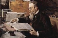 Портрет Николая Римского-Корсакова, выполненный Валентином Серовым в 1898 г.