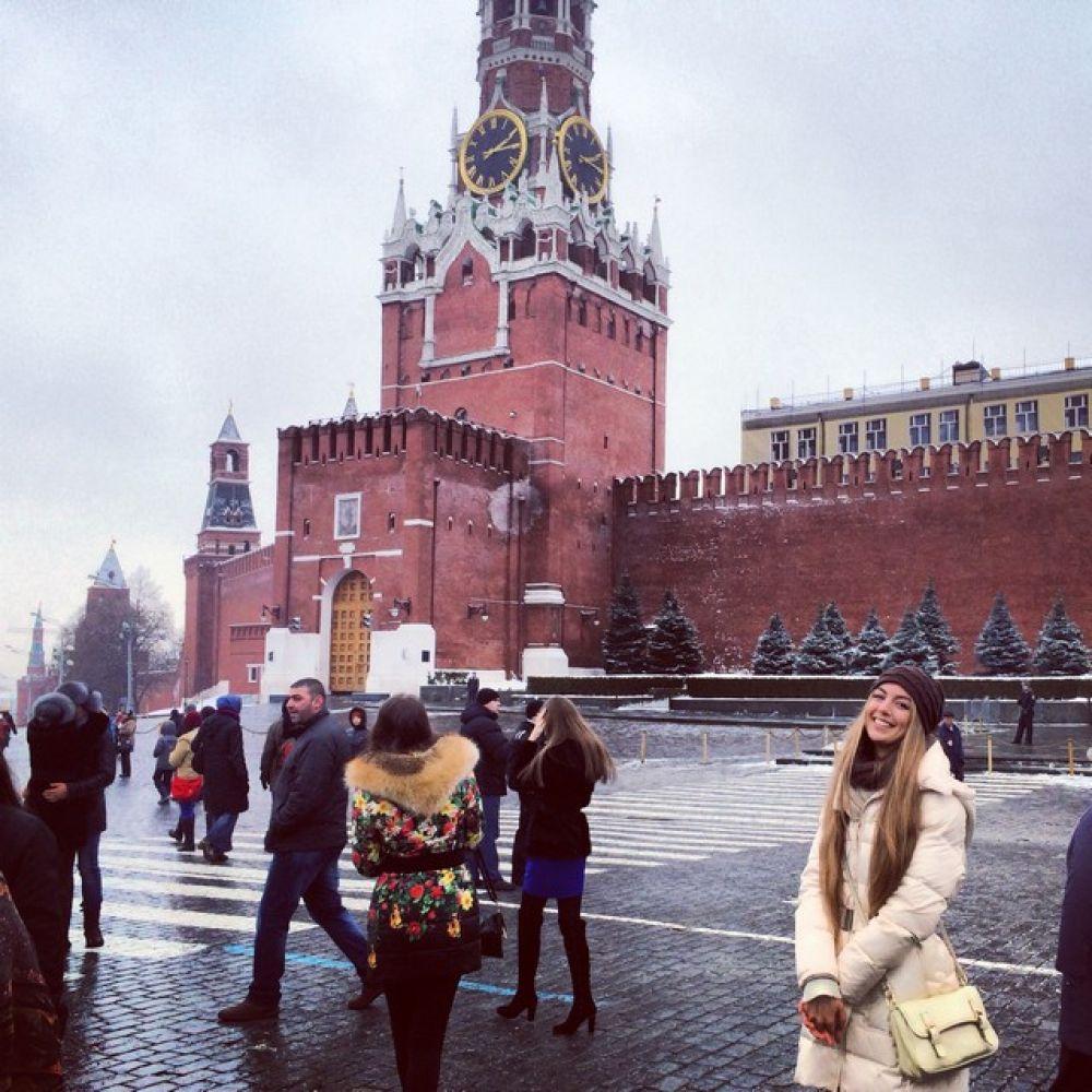 Прогулки по  Москве во время  кастинга на «Мисс России».