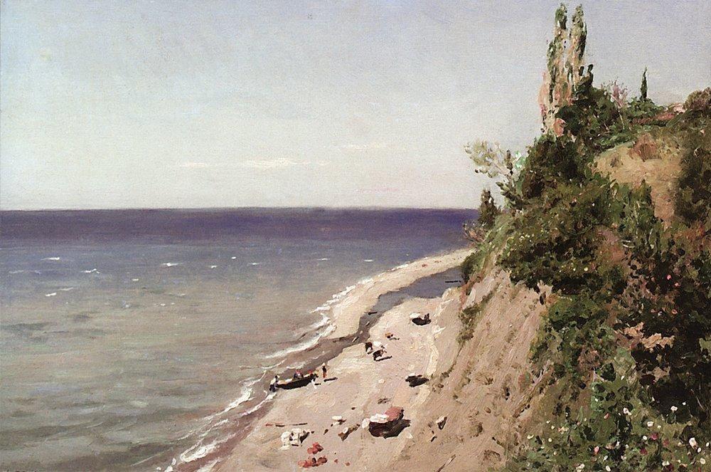 Несколько крымских пейзажей написал также выдающийся русский художник-передвижник Владимир Маковский.