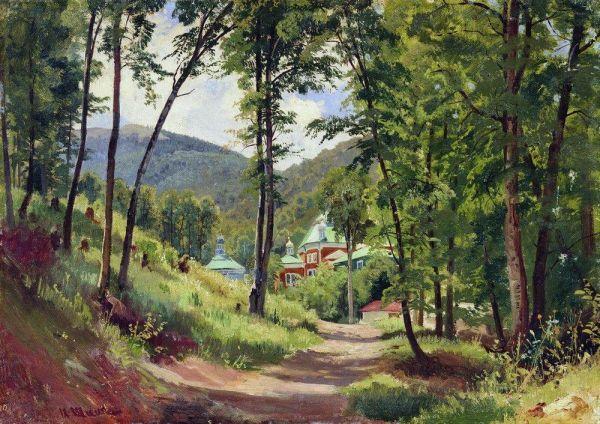 Знаменитый русский живописец Иван Шишкин несколько раз бывал в Крыму и оставил несколько местных пейзажей, а также многие незавершённые наброски карандашом.
