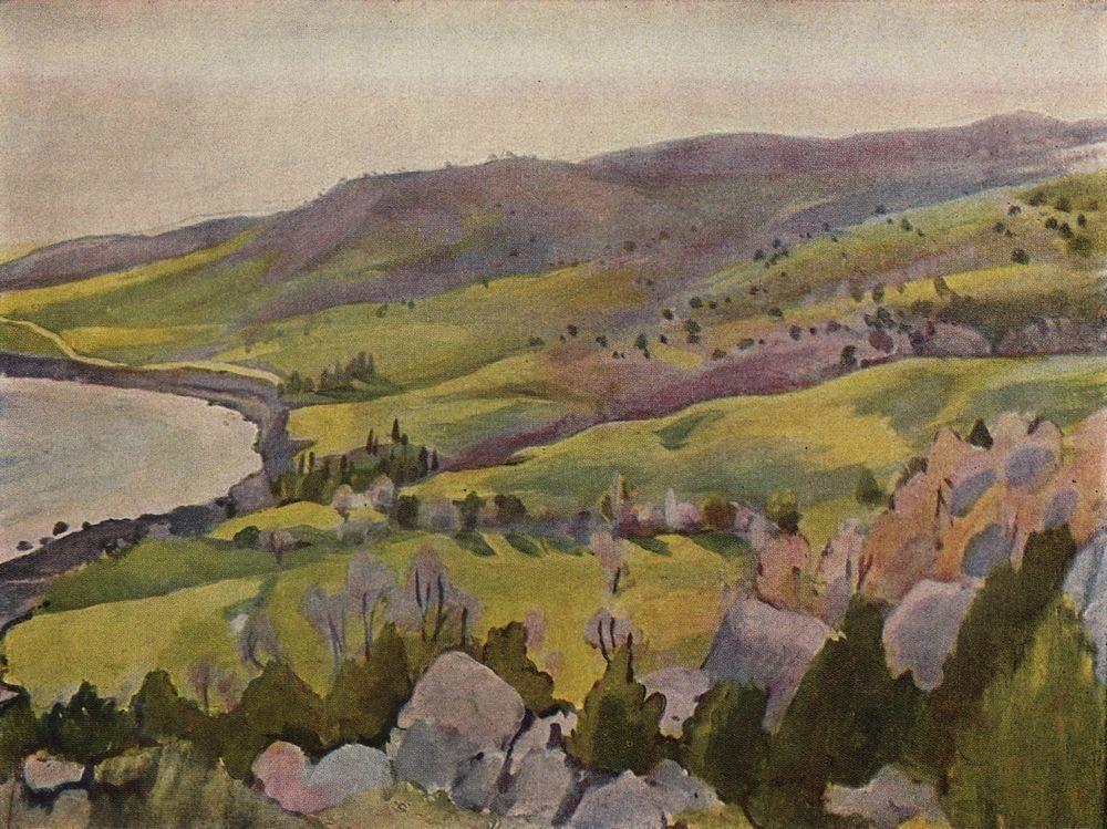 Два крымских пейзажа написала также знаменитая Зинаида Серебрякова, объединившая в своём творчестве символизм и экспрессионизм.