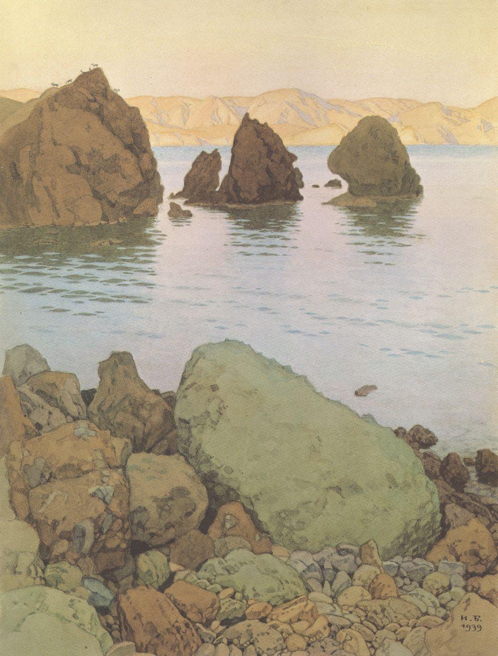 В 1912 году Иван Билибин вместе с компаньонами выкупил участок земли на Южном берегу Крыма. С тех пор художник регулярно приезжал в Батилиман, а в 1917 году после развода и революции он прожил в этих местах два года.