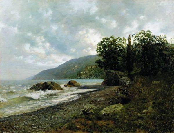 В 1886 году, заработав денег, Исаак Левитан отправился в Крым, чтобы отдохнуть от повседневных забот. Здесь художник обрёл «второе дыхание» и по возвращении организовал выставку пятидесяти пейзажей.