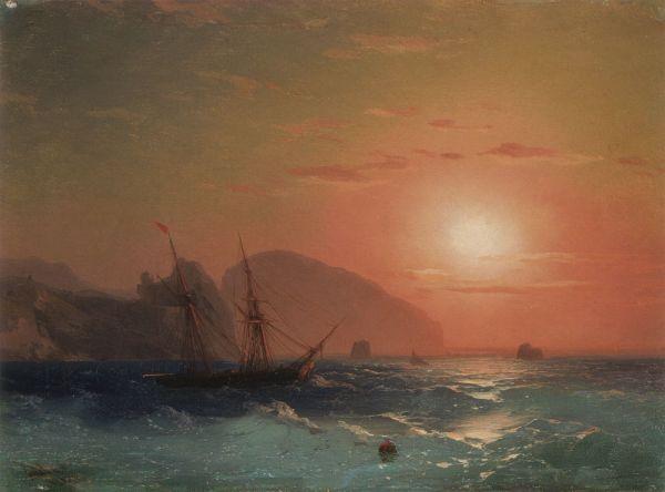Иван Айвазовский отправился в Крым в 1838 году. Здесь он писал морские пейзажи и заимался батальной живописью. В Крыму художник и умер – 2 мая 1900 года он скончался в Феодосии в возрасте 82 лет.