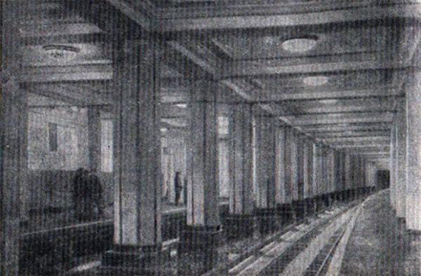 Станция метро «Александровский сад» в 1935 году.