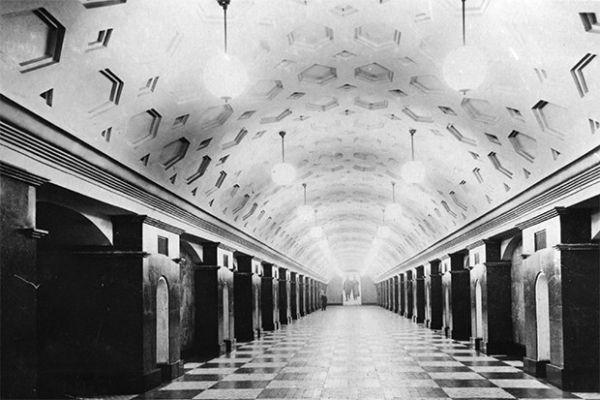 Станция метро «Красные ворота» в 1935 году.