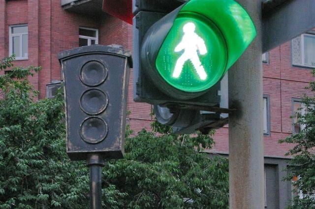 В Омске установили новый светофор.
