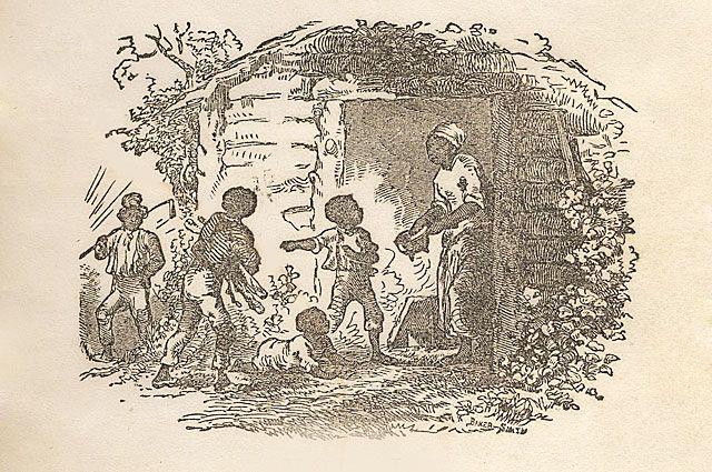Фрагмент титульного листа первого издания «Хижины дяди Тома» 1852 года.