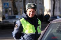 Инспектор ДПС Алексей Чеботов.