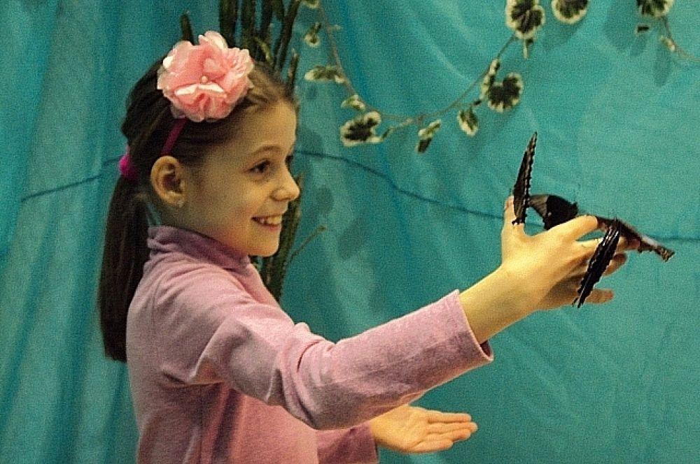 Дети особенно рады такому общению и с интересом рассматривают экзотических представителей насекомых