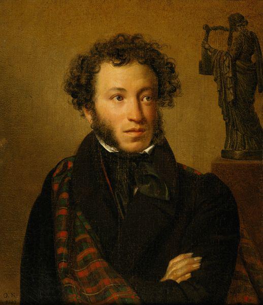 Самая известная работа Кипренского – портрет Александра Пушкина – датируется 1827 годом. На этом портрете поэт изображён в возрасте 28 лет.