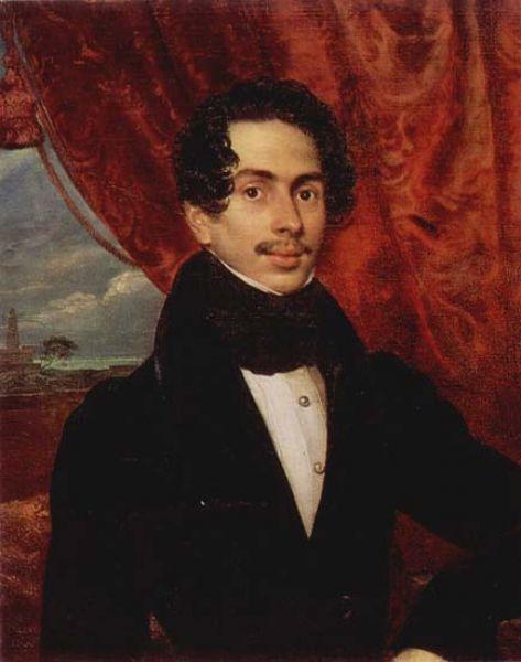 Портрет князя Фёдора Голицына, куратора Московского университета, художник написал в 1833 году.