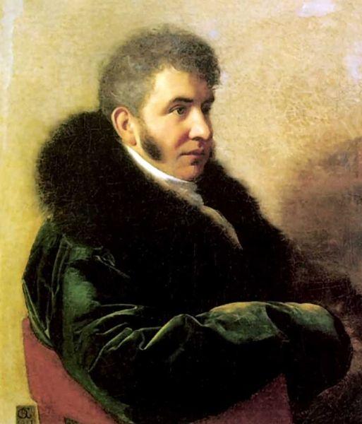 В возрасте 29 лет Орест Кипренский написал портрет князя Ивана Алексеевича Гагарина, известного театрала, действительного тайного советника и сенатора Российской Империи.
