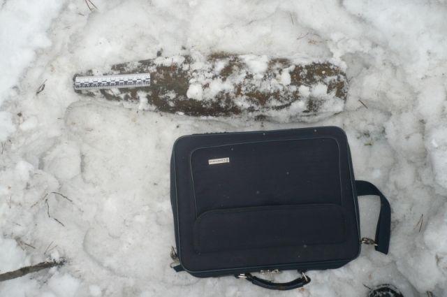 Найденная пенсионерам находка была похожа на этот снаряд.