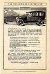 «Автомобилями «Франклин» пользоваться очень просто вместе с шинами из нашего сервиса. Мы ведём официальную отчётность шиномонтажа, составленную по отзывам многих владельцев, и мы вышлем её по почте по Вашему запросу». Реклама автомобильной компании «Франклин», 1907 год.