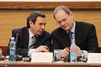 Экс-губернатор Новосибирской области Василий Юрченко (справа).