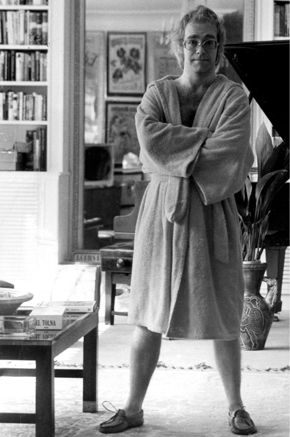 Музыкант у себя дома, 1973 год.