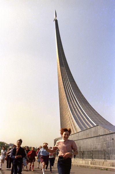 Монумент «Покорителям космоса», 1986 год.