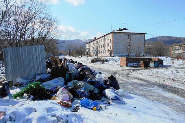 Свалка в посёлке Корфовский