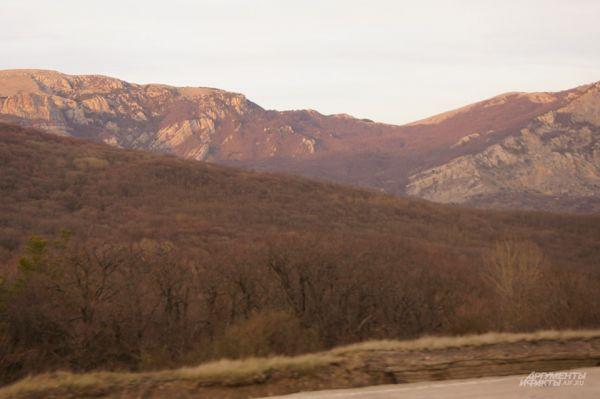 Закат в горах Крыма.