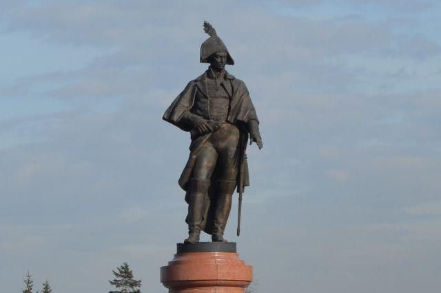 Памятник Николаю Резанову в Красноярске.