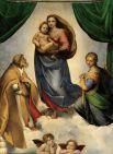 В то же время Рафаэль завершает работу над «Сикстинской Мадонной» - одной из вершин Высокого Возрождения. Картина написана по заказу папы Юлия II в честь победы над французами и включения Пьяченцы в состав Папской области.