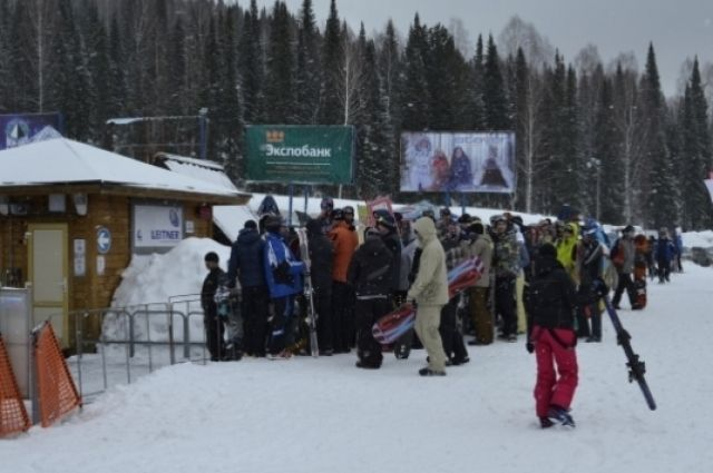 Гора Зелёная привлекает любителей зимнего спорта