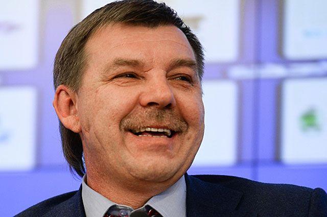 Пресс-конференция главного тренера мужской сборной России по хоккею Олега Знарока.