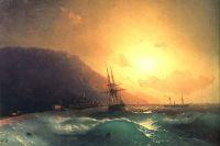 Иван Айвазовский. «У берегов Ялты». 1864 год.