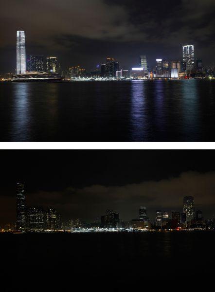 Акция «Час Земли» вГонконге.